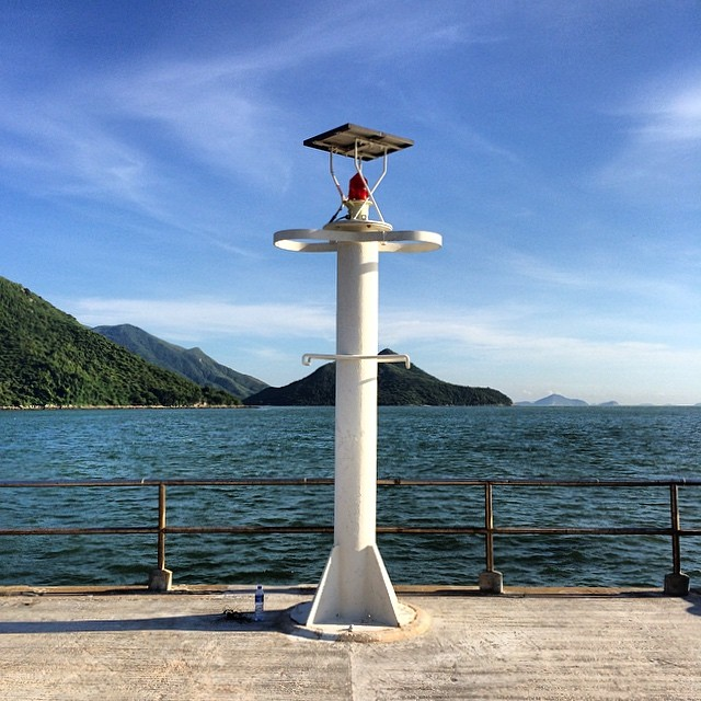 Not quite a #lighthouse, it's a #pier #beacon on Shek Tsai Po Jetty in #TaiO. #hongkong #hk #hkig