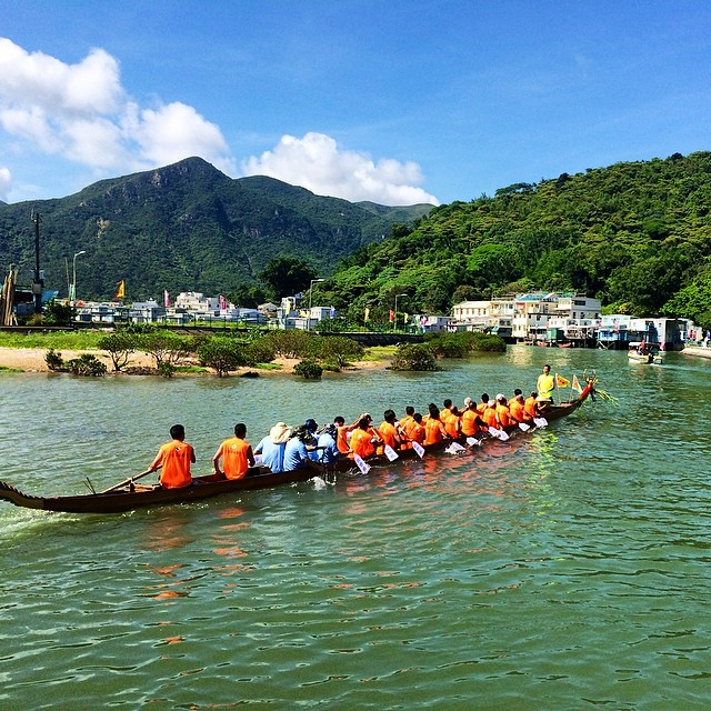 The #TaiO #Dragonboat Festival is more cultural than the others in #hongkong. It's also the most #scenic. #hk #hk