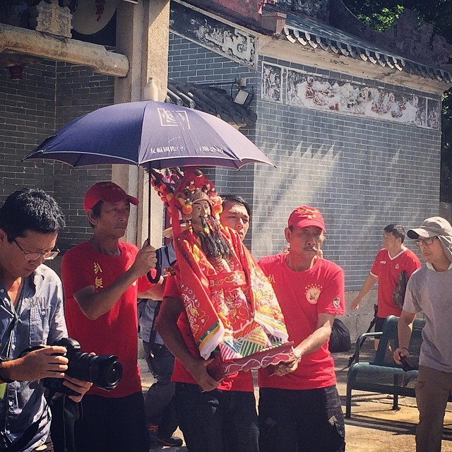 The patron deity of #YeungHau #Temple in #TaiO is removed from the temple. The deity is then placed on a #dragonboat and paraded around the #village via the #canals. #hongkong #hk #hkig