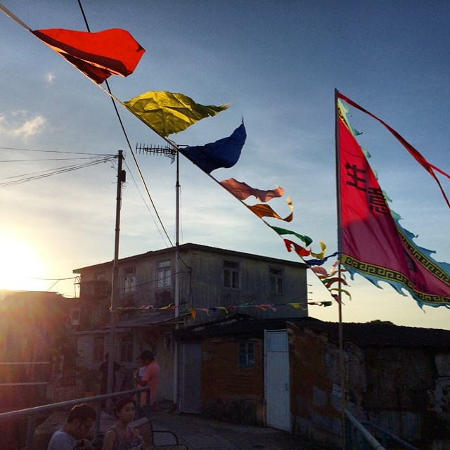 #dragonboat festival #flags fly in the fishing #village of #TaiO. #hongkong #hk #hkig