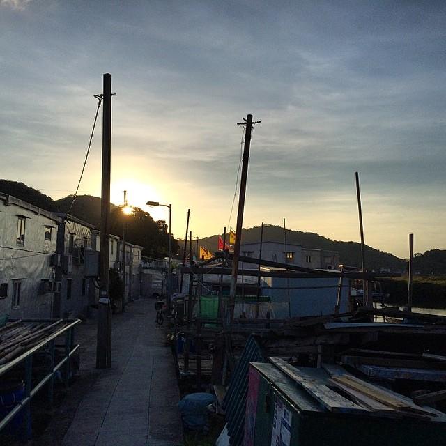 #evening - #sunset in #TaiO #village. #hongkong #hk #hkig
