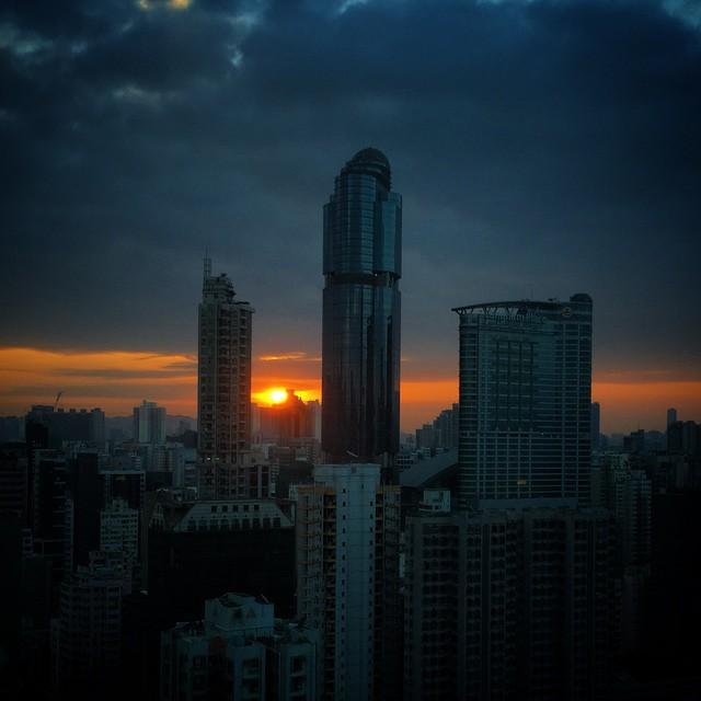 A #stormy #sunrise over #Mongkok. #HongKong #hk #hk