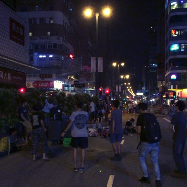 At the other end of #NathanRoad, some of #OccupyHK has turned into a block party with #DJ and all. #HongKong #hk #hkig #hkvideo #instavid #video