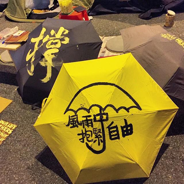 #umbrella-ception - an umbrella on an umbrella. These #OccupyHK #calligraphy #umbrellas are pretty nice. #HongKong #hk #hkig