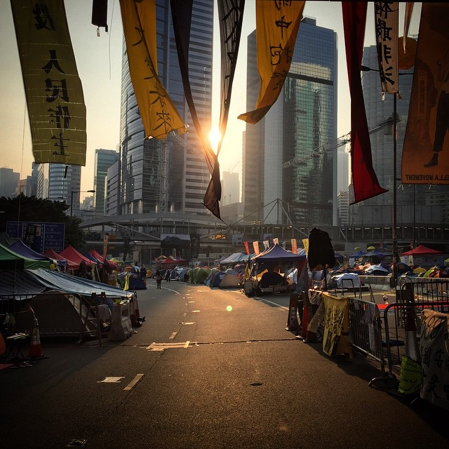 Cradling the sun - #sunrise over #OccupyHK #Admiralty. #HongKong #hk #hkig #dawn