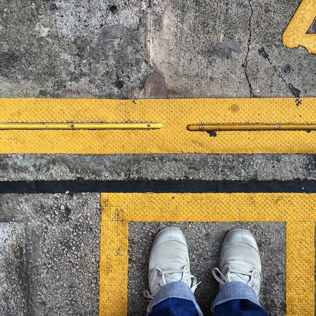 Where will the weekend take you? #palladium #boots at an #MTR station platform. #HongKong #hk #hkig