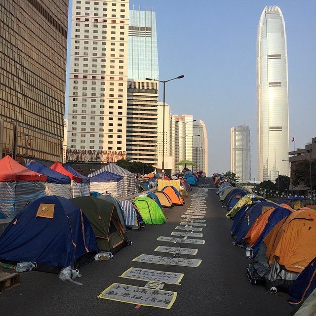 #dawn at the #OccupyHK protest #camp site at #Admiralty. #HongKong #hk #hkig