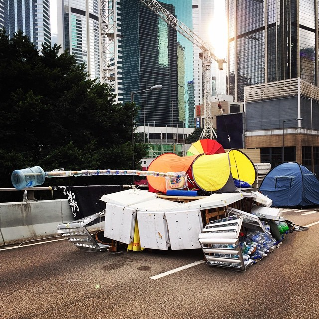 An #art installation at #OccupyHK #Admiralty. A #tank made from scraps. #HongKong #hk #hkig