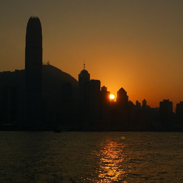 #HongKong #island #silhouette at #sunset. A lovely #winter #evening in #HK. #hkig