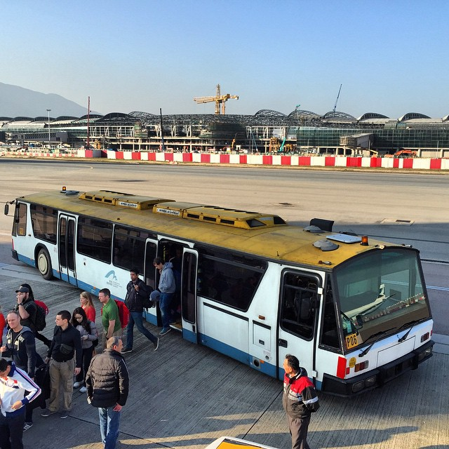A #HKIA apron / #airport #bus that takes passengers to the Low Cost Carriers. #HK #hongkong #hkig