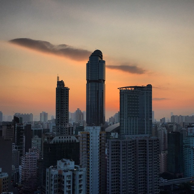 My first #Mongkok #sunrise of 2015. #HK #hongkong #hkig