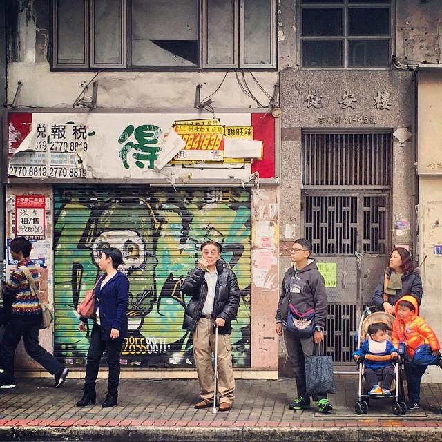 Still #life - waiting for the bus at the #busstop in #Mongkok. #hongkong #hk #hkig