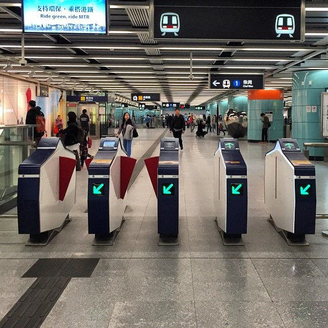 The new #MTR #station gates look pretty modern. #hongkong #hk #hkig