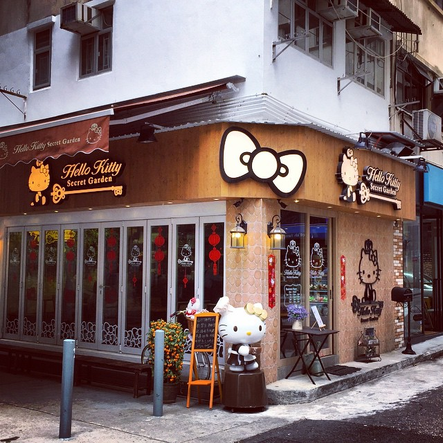 A #HelloKitty #cafe has appeared in #TaiHang. #HongKong #hk #hkig