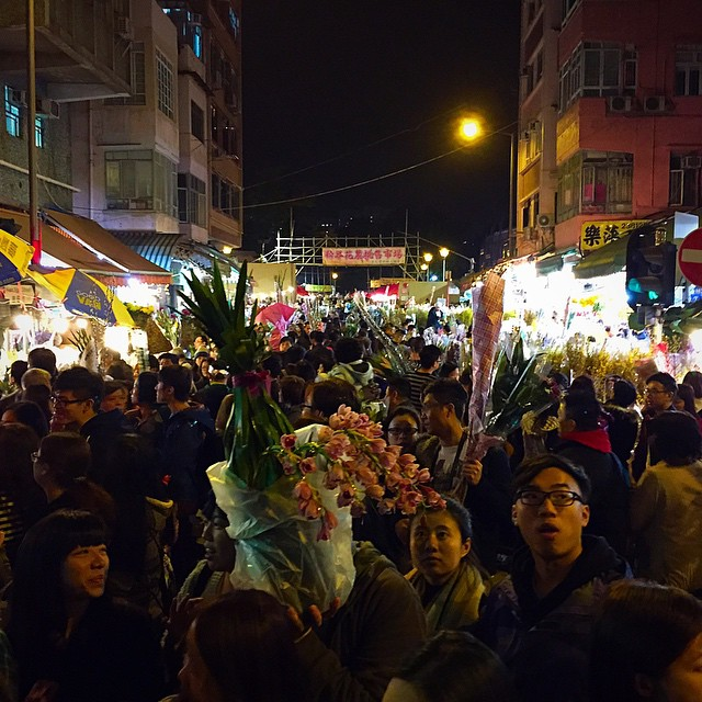 #ChineseNewYear midnight #flower shopping at the #FlowerMarket in #Mongkok. #HongKong #hk #hkig #CNY2015