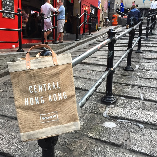 Couldn't resist - got myself an #apolis x #woaw #marketbag because it's for #Central. #HongKong #hk #hkig