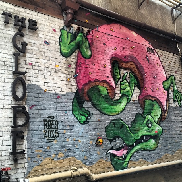 #graffiti by #Roes at #TheGlobe on #GrahamStreet in #Central, #HongKong as part of #HKWalls 2015. #HK #hkig