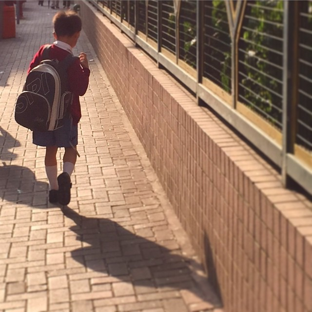 #shadow of a #schoolboy on his #morning walk to #school. #HongKong #hk #hkig