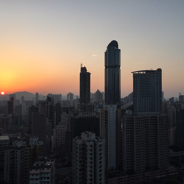 #spring #sunrise over #Mongkok. #HongKong #hk #hkig