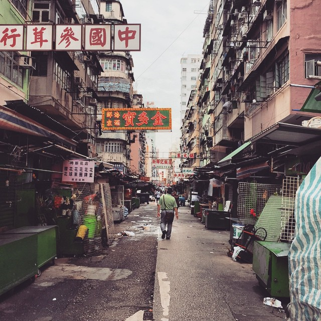 A dull #Mongkok #morning. The #streetmarket has not yet started. #HongKong #hk #hkig
