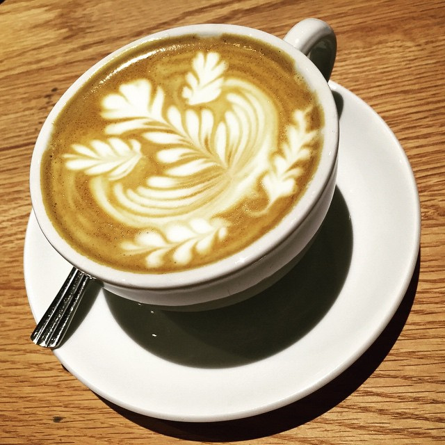 A #latte with exquisite #latteart at #CoCoEspresso. #HongKong #hk #hkig # #coffee