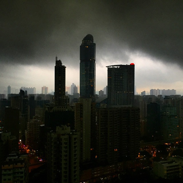 Not mono - #LanghamPlace against a #stormy sky. #Mongkok #HongKong #hk #hkig