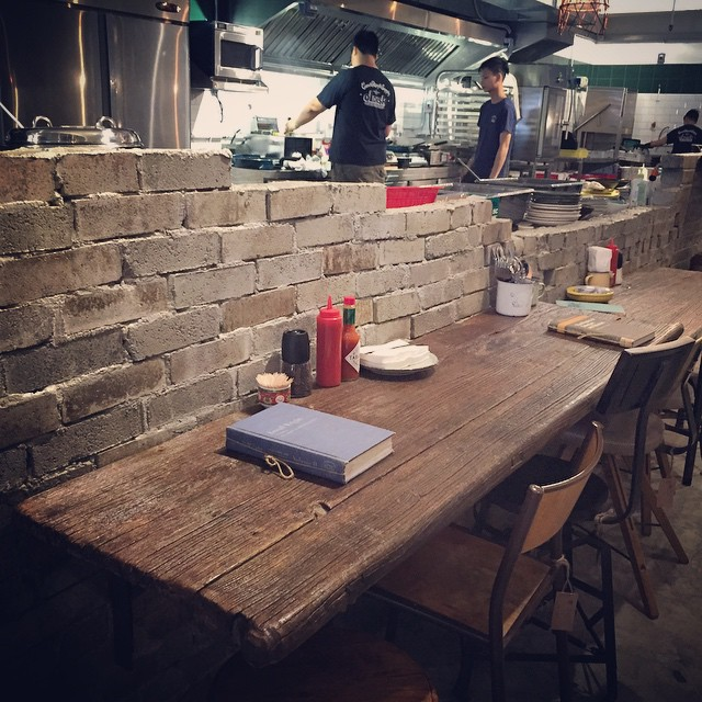 #BarSeats at an #OpenKitchen at #oldish in #KwunTong. #HongKong #hk #hkig #cafe