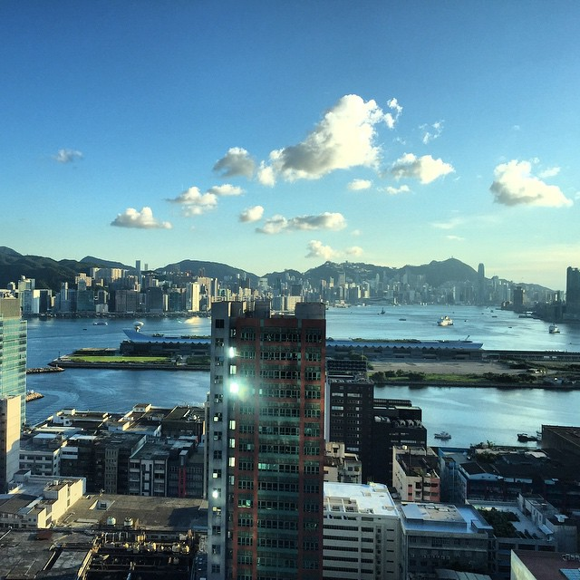 It's a lovely #evening on #VictoriaHarbour in #HongKong today. #HK #hkig