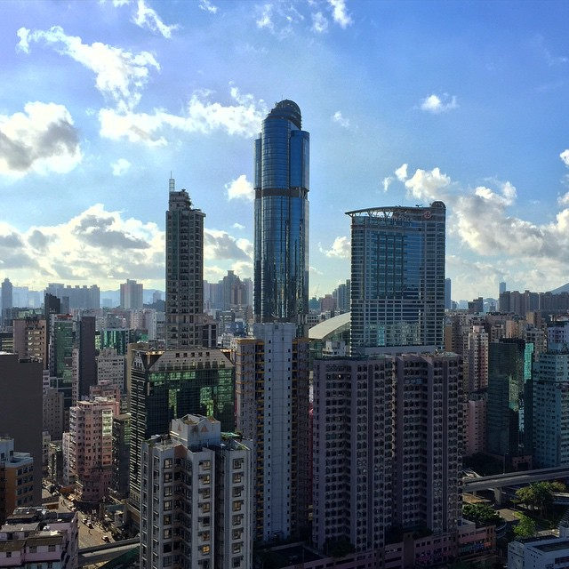 #LanghamPlace on blue skies after weeks of grey over #Mongkok. #HongKong #hk #hkig