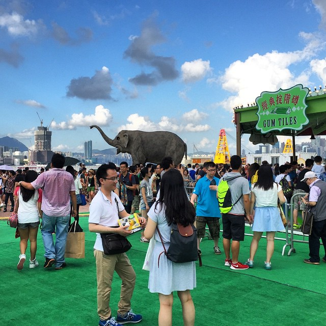There's an #elephant in #Central. It's #mechatronic and at the #LaiYuen #summer 2015 #carnival. #HongKong #HK #hkig