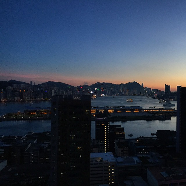 #VictoriaHarbour at the #dusk. #evening #HongKong #hkig #hk