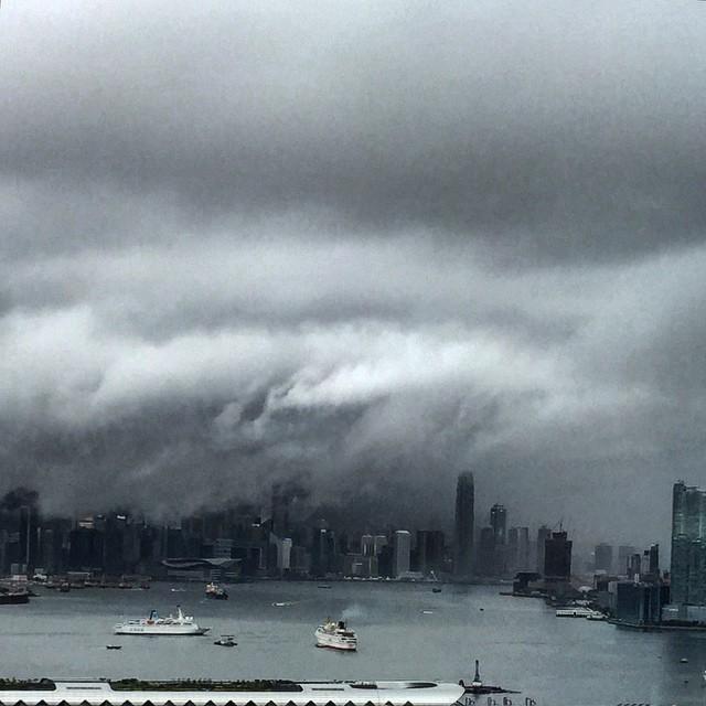 #storm over #VictoriaHarbour #HongKong. #hk #hkig