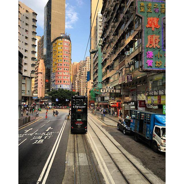 A #tram ride through #WanChai, #hongkong. #HK #hkig