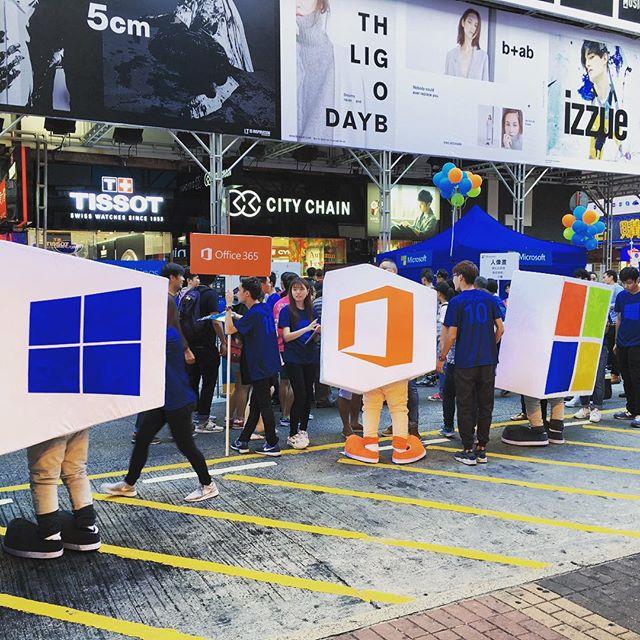 #microsoft #mascots on #saiyeungchoistreet. WTF, Microsoft? WTF? #hongkong #hk #hkig