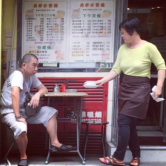 #HongKong life. Having #tea at the neighbourhood #CharChanTang. #HK #HKIG #streetlife #AberdeenStreet