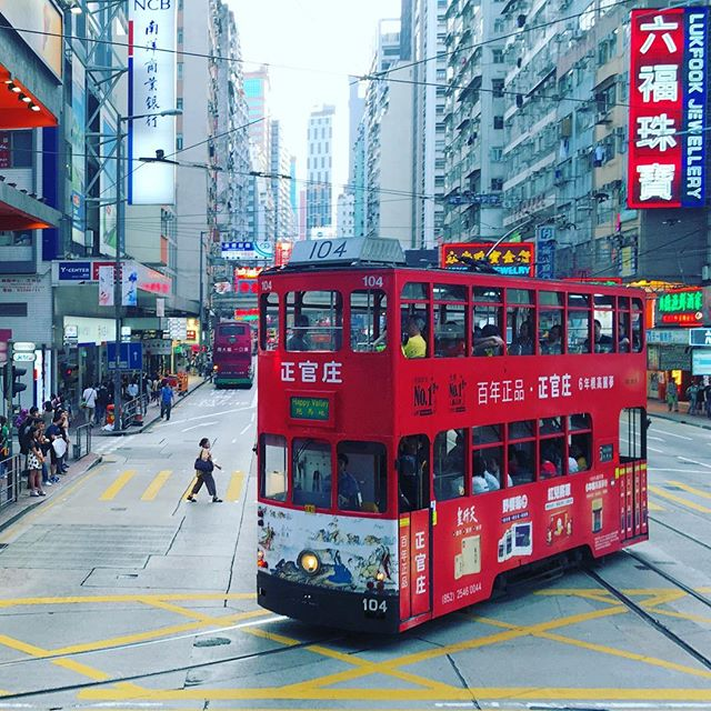 The #HongKong #Tram in #CausewayBay. #HK #hkig