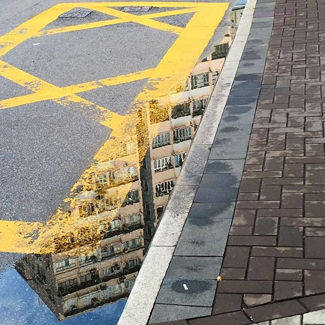 Slice of #sky - #reflection of a #building in a #puddle of water after the rain. #hongkong #HK #HKIG