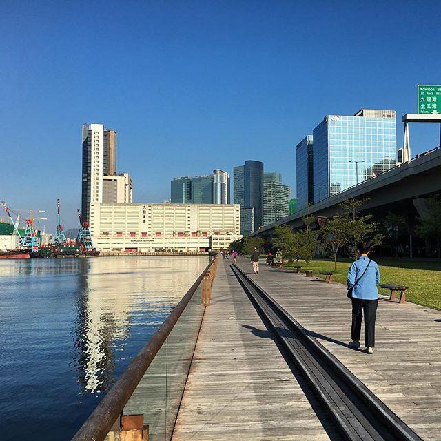 A lady walks along #KwunTong #Promenade. #HongKong #hk #hkig #KwunTongPromenade