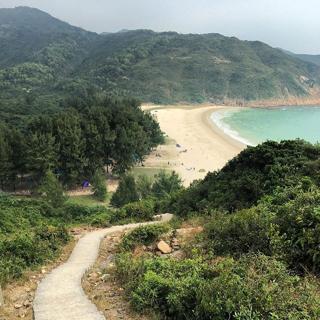 #hiking the #MacLehose #Trail down to #LongKeWan (Long Ke #beach) in the #SaiKung Country Park. #hongkong #hk #hkig #MacLehoseTrail
