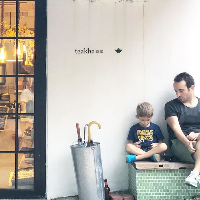 #father and #son at #Teakha. #hongkong #hk #hkig